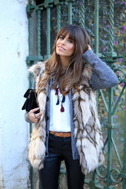 chunky knits / fur + leather / western ski chic
