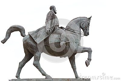 Statue Carol I of Romania on horseback - Prince of Hohenzollern-Sigmaringen.