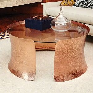 Copper Cuff Cocktail Table