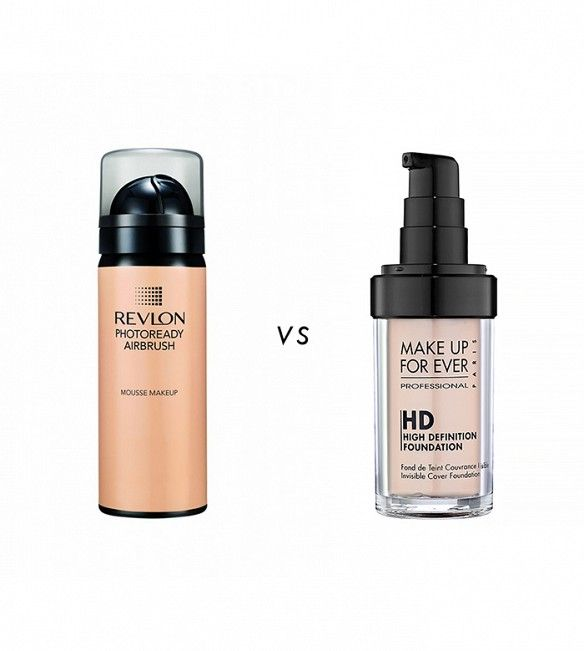 Make Up For Ever HD Invisible Cover Foundation ($43) blows people away with its ability to blur imperfections for a flawless, soft-focus finish that looks airbrushed. Revlon PhotoReady Airbrush Effect Makeup ($12) is a full-coverage liquid foundation with light-reflecting particles that give skin a similar poreless, flawless appearance.