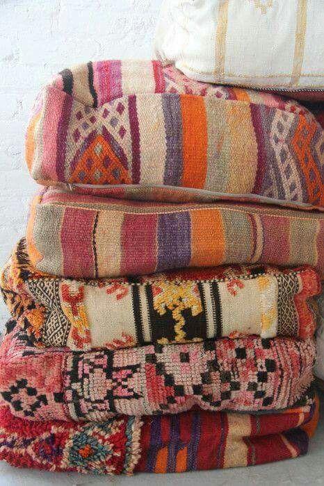 Lovely textile blankets.