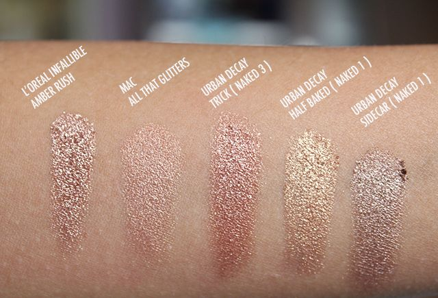 L'oreal Infallible Eyeshadow in Amber Rush Comparisons