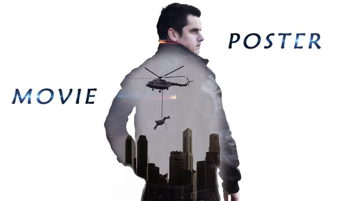 Dual exposure movie poster photoshop effect | Photoshop tutorial cc - YouTube