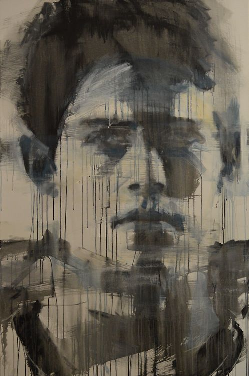 """mark horst """"by the signs of this world no. 10"""" [second state] 72"""" x 48"""" acrylic"""