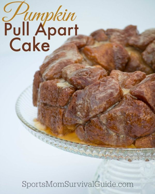 This to die for Pumpkin Pull Apart Cake is covered in a light pumpkin glaze. So yummy...it's the perfect recipe for fall and easy to make too!