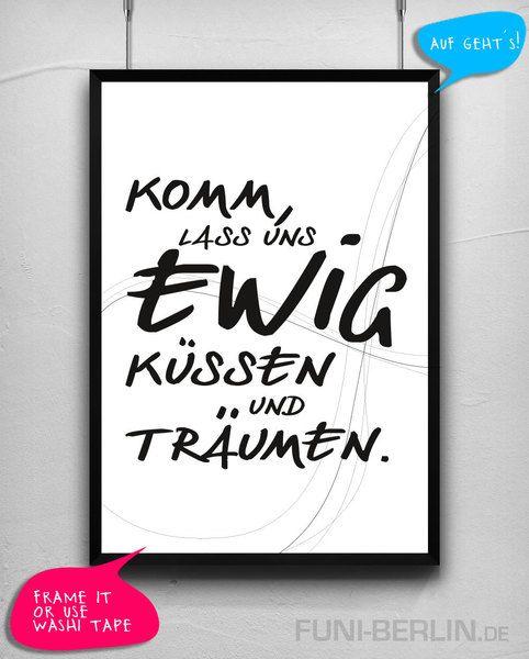 """EWIG""   typo poster   size L von FUNI BERLIN auf DaWanda.com"