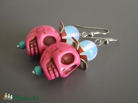 """""""Dia de los Muertos"""" fülbevaló, Mexikó, halottak napja, Dél-Amerika, lánynak, nőnek, ajándék (agnesasvanyaruhaza) - Meska.hu"""