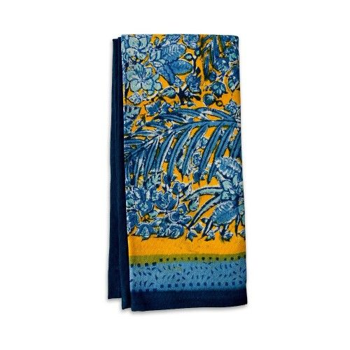 Couleur Nature - 'Bougainvillea, Yellow-Blue' Tea Towel, 20x30"