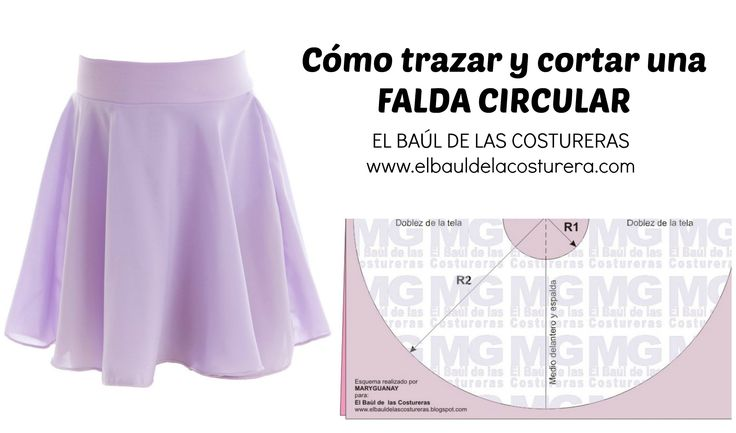 Trazado de la Falda Circunferencia completa, Acampanada o Plato - circular skirt plate -  #Dressmaking patterns for FREE - Sewing Dressmaking Clothing - Clothes #Sewing #Tutorials