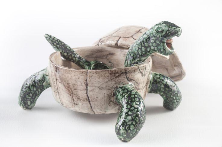 www.astralobjetos.com Azucarera de tortuga. Turtle. Turtle sugar bowl - ceramic sugar bowl Ceramica hecha a mano -  Handmade ceramic, ceramics, clay, pottery.