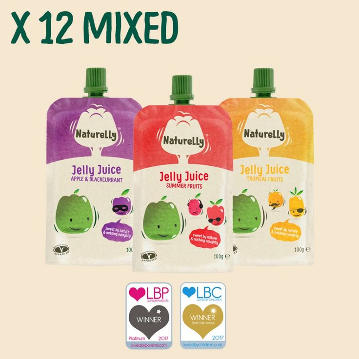 Variety Pack - mixed flavours from £12.00 for 12 (inc. P&P) | Naturelly Jelly Juice