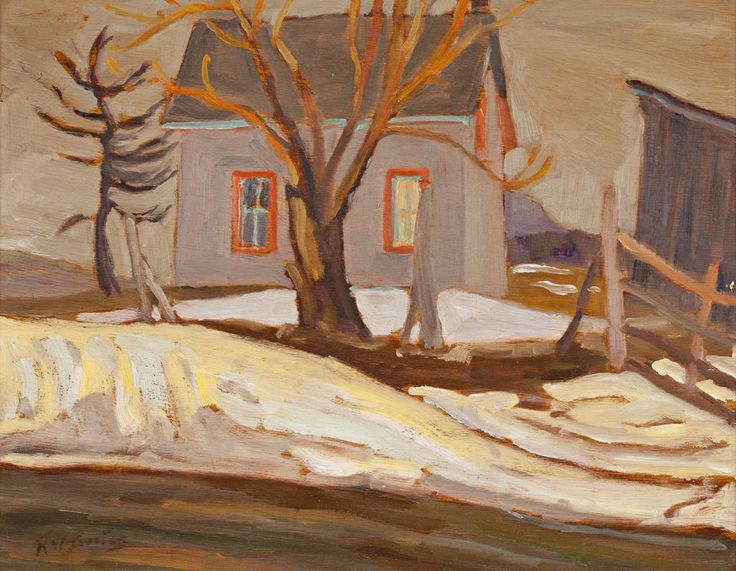 Ralph Wallace Burton - House at Twilight 10.5 x 13.5 Oil on panel