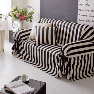 Satin Stripe/サテンストライプ ジャカード織ソファカバー リボンタイプ 通販 - ディノス