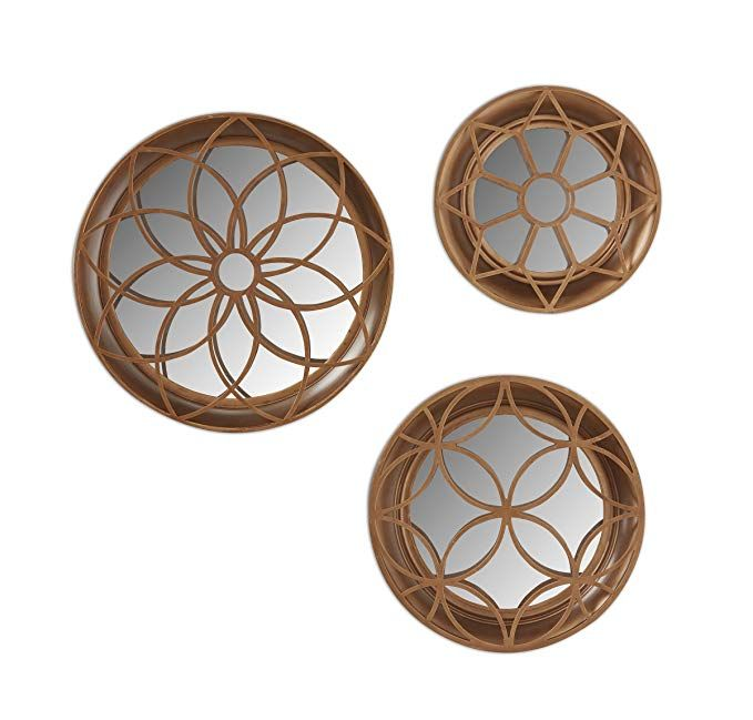 3 Piece Metal Accent Mirror This Set, How To Hang Three Circle Mirrors