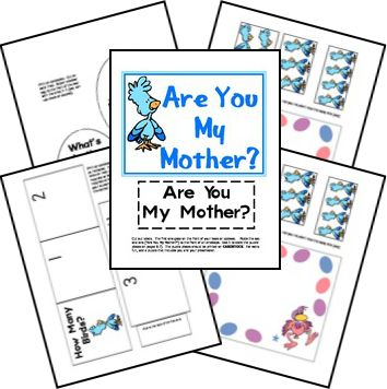 Here is a FREE Are You My Mother Lapbook. This pack focuses on the story as well as teaches letters and numbers.