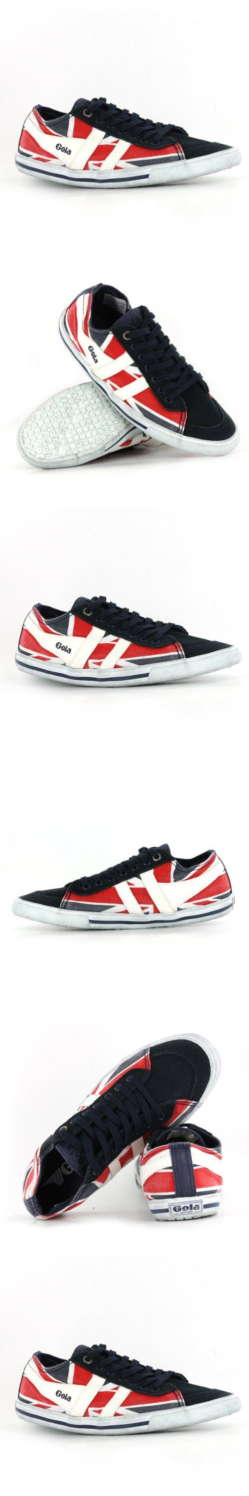 Gola Quota Union Jack Navy White Red Womens Trainers 6 US