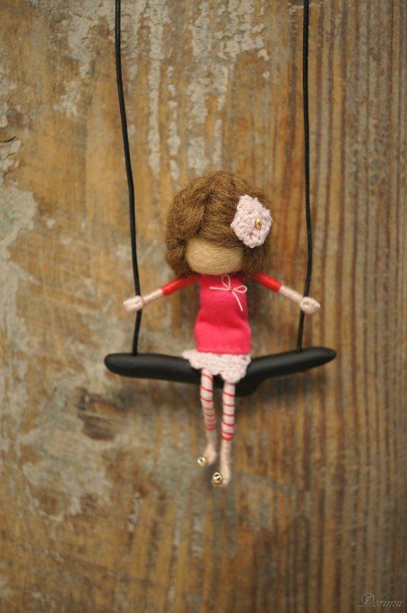 Collar de estilo vintage OOAK fairy por DORIMU en Etsy
