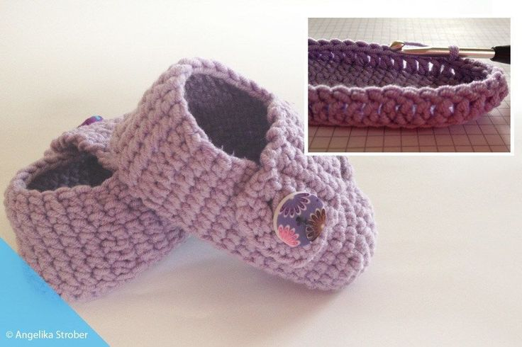Crochet baby shoes – free instructions