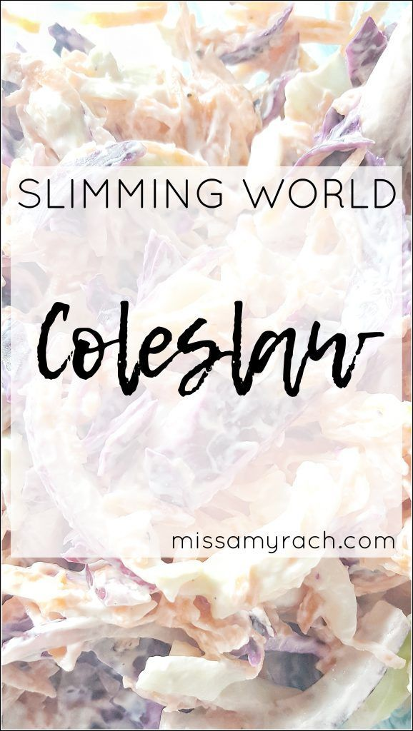 How to make healthy coleslaw slimming world