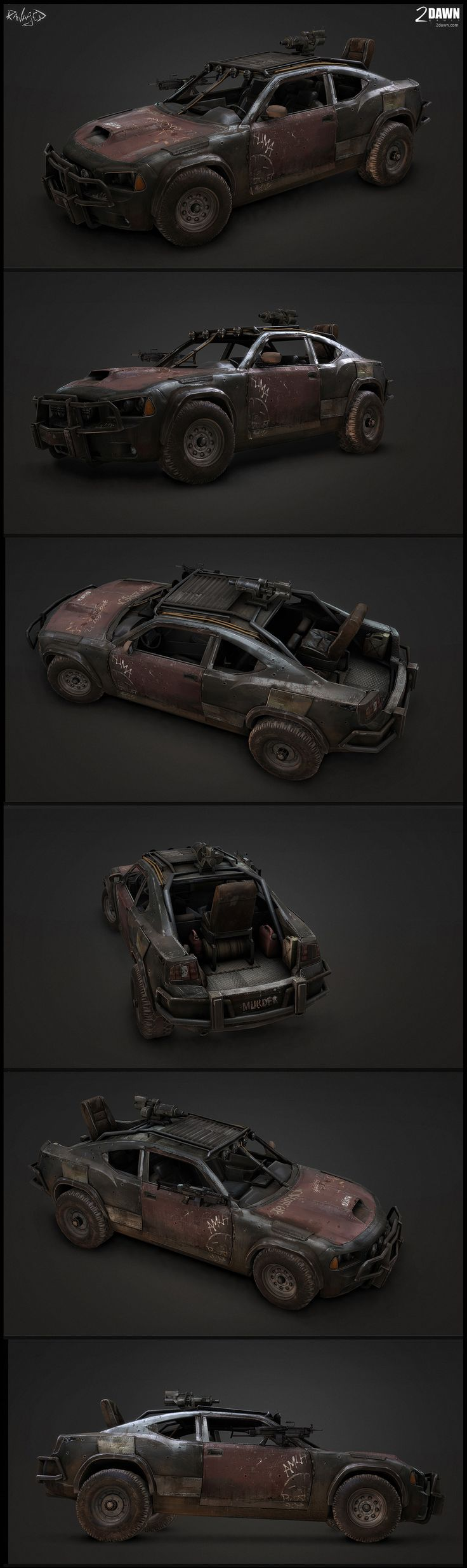 Vehículo táctico post-apocalíptico por Alan Van Ryzin / Post-apocaliptic tactical vehicle by Alan Van Ryzin