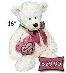 "Teddy Bear with Heart ""Hugs & Kisses"" #valentinegifts #teddybear #sendateddy"