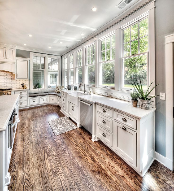 A substantial Kansas City kitchen remodel subtly shows off its classy design and quality material choices {featuring Pella windows of course!}.