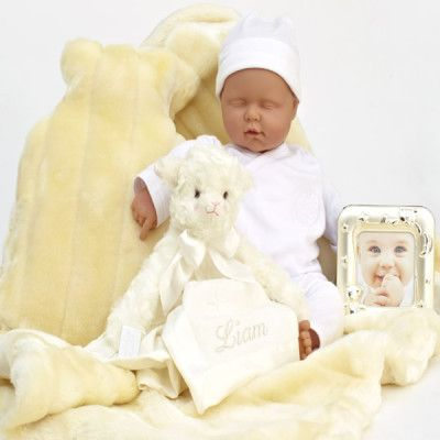Designer Snuggles and Cuddles ... Personalised - A nice soft and cuddly minimink faux fur to keep the baby warm.