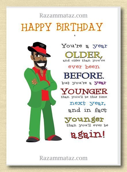 African American Male Birthday Card F