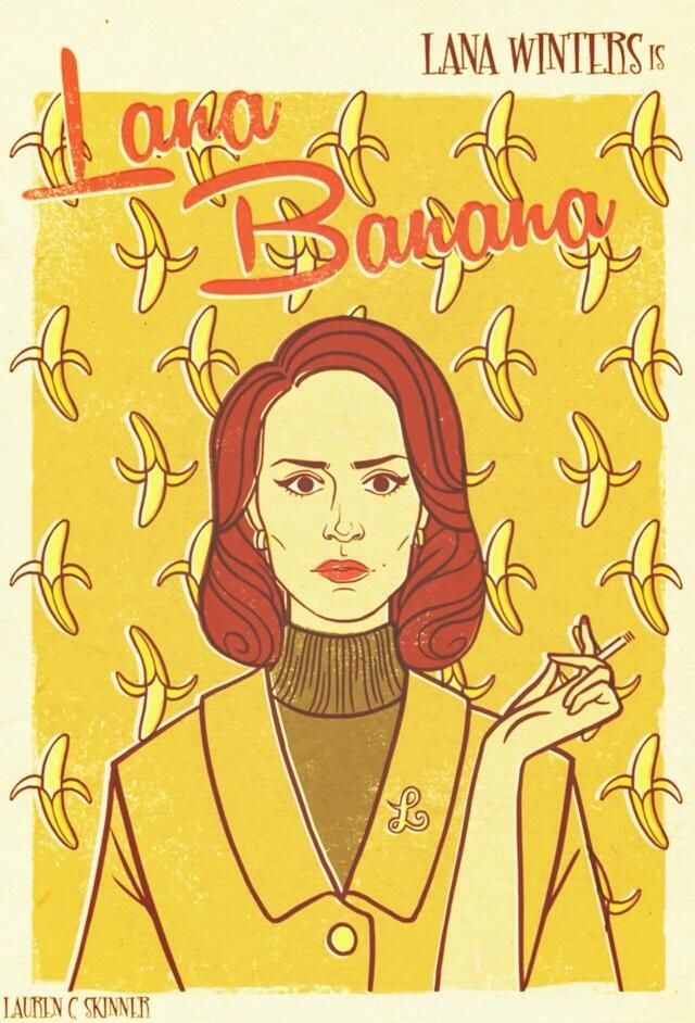 Sarah Paulson. Lana Banana. Love it she was ballsy! #AHS #asylum