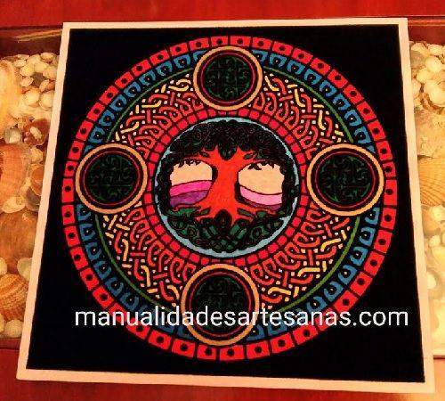#Mándala 'El árbol de la vida' pintado con #rotuladores  #HOWTO #DIOY #artesanía #manualidades #reciclaje