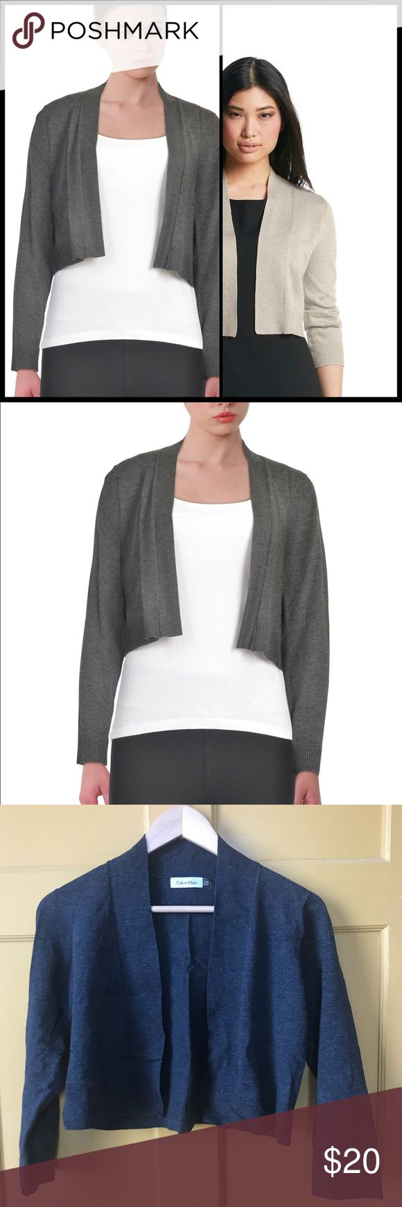 """Calvin Klein Shrug NWOT Never worn! Size Medium  18"""" armpit to armpit  17"""" length Super soft versatile addition to any delicate top Calvin Klein Sweaters Shrugs & Ponchos"""