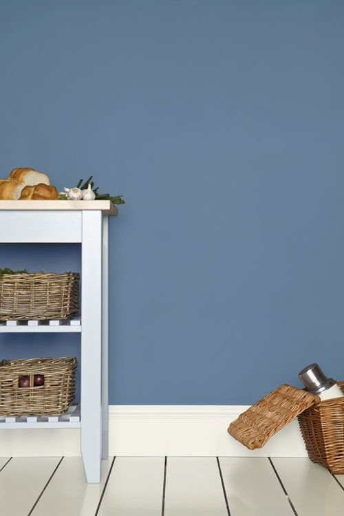 Farrow & Ball - Cook's Blue with breakfast room green