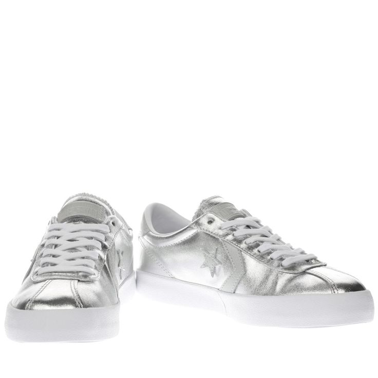 womens converse silver breakpoint metallic trainers