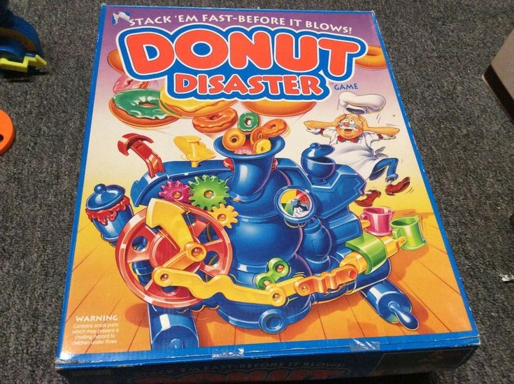 Donut Disaster Game Parker Brothers Vintage 1992 For Parts. #ParkerBrothers