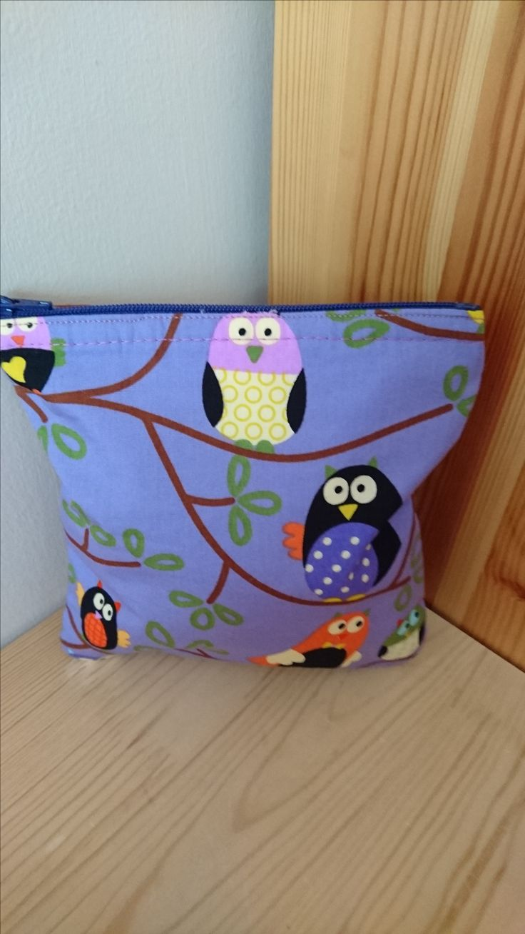 Purple Owl Handmade Fabric Purse