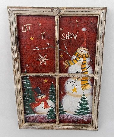Look what I found on #zulily! Light-Up Winter Scene Window Frame Wall Art by Craft Outlet #zulilyfinds