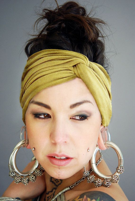 Turban Twist Headband And Amazing Earrings Not Gauged