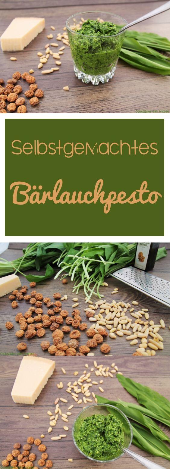 Bärlauchpesto selber machen - Frühling - www.candbwithandrea.com - Rezept - Collage