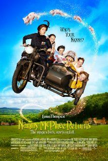 Nanny McPhee Returns - Nanny McPhee arrives to help a harried young mother who is trying to run the family farm while her husband is away at war, though she uses her magic to teach the woman's children and their two spoiled cousins five new lessons.