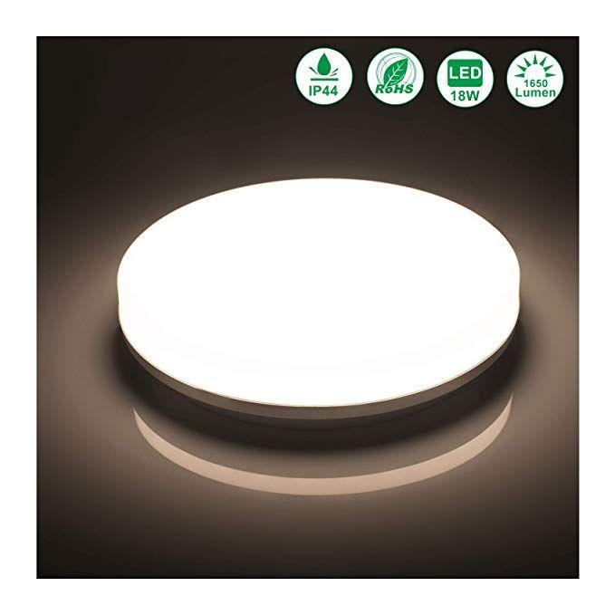 Öuesen LED Deckenlampe Badezimmer 18W Neutralweiß LED Deckenleuchte - wasserfeste farbe badezimmer