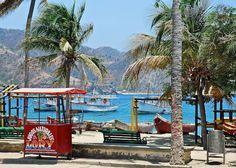 Colombia - Taganga es un típico y característico pueblo de pescadores del Distrito Santa Marta,