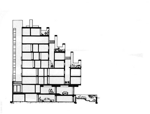 AR, Mar del Plata, Terraza Palace. Architect Antonio Bonet Castellana, 1957. (boulevard peralta ramos and saavedra)