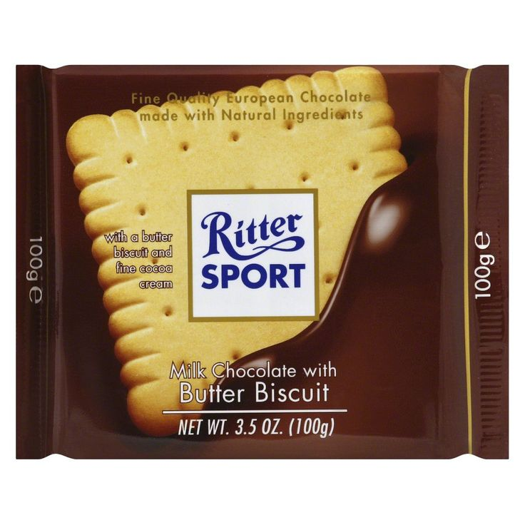 Ritter Sport Milk Chocolate with Butter Biscuit - 3.5oz