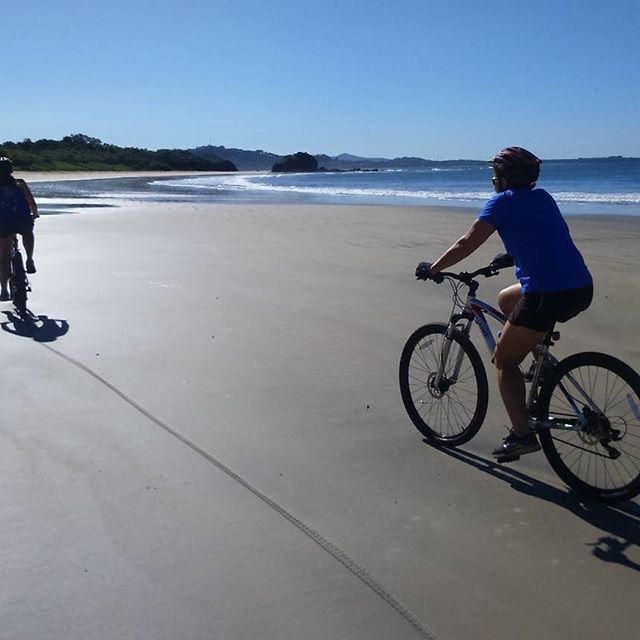 """""""Great way to spend the morning"""" was the feedback after an early morning ride along Playa Grande yesterday. If you're planning a visit to Costa Rica then definitely include a bike ride. I can help you get here - ask me how or check the #linkinbio ( #📷 @tamarindobiketours via @latermedia )"""