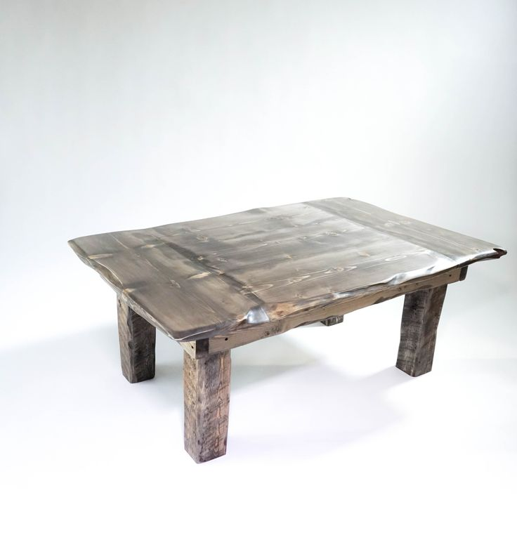 The Alpinist  Hand carved solid spruce rustic coffee table.