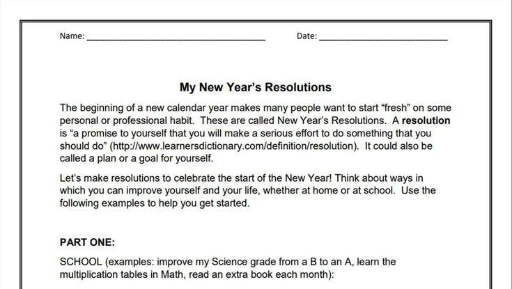 Essay new year resolution