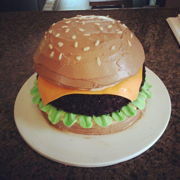 A cheeseburger cake {by Natalie Evenson}