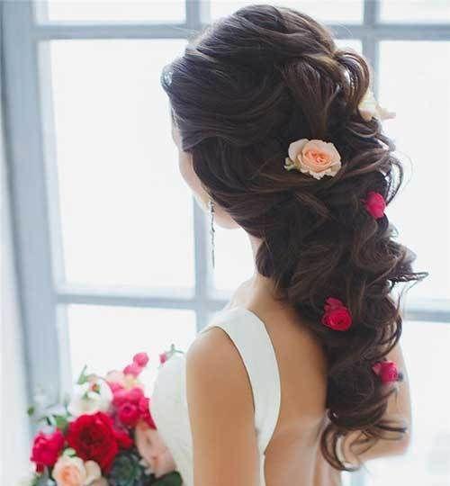 20 Frisuren für Hochzeiten: Langes Haar – #frisuren #madame #frisur #hairstyle …