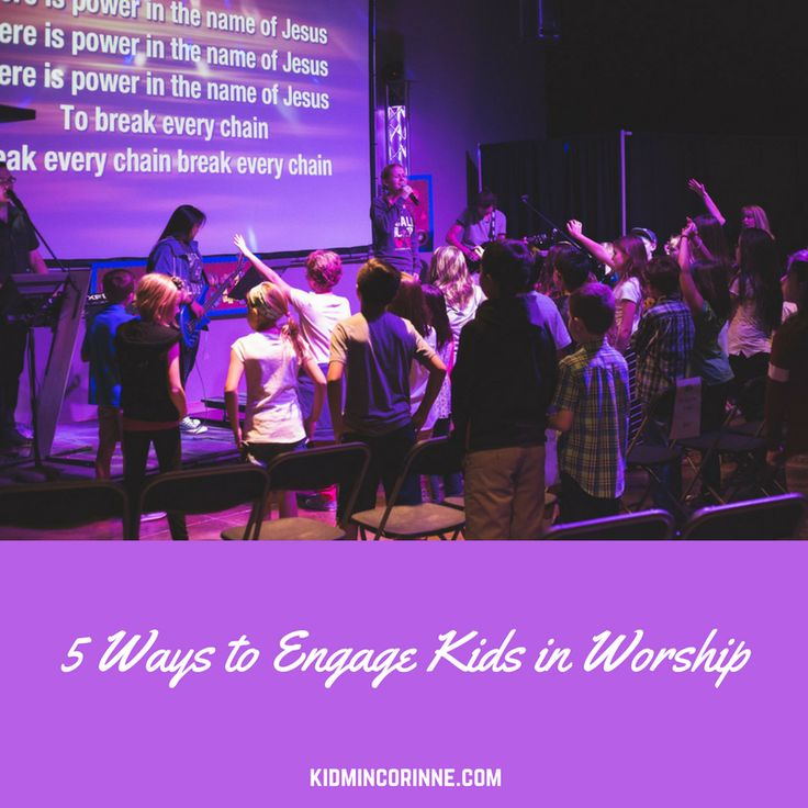 5 Ways to engage children in worship. Includes how to teach kids to worship.