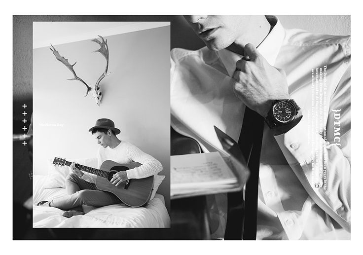 Diesel Musically Inclined // Donny Truter. Men's fashion for fashion editorial for AFF.  Left: Knit R1999, Chinos R1799   /   Right: White Shirt R1999, Overflow Chronograph Watch R4399   All fashion available by Diesel V&A Waterfront, Cape Town +27 21 425 5779 Sandton, Johannesburg +27 11 783 0882